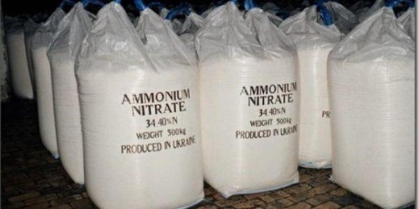 Sacchetti di nitrato di ammonio